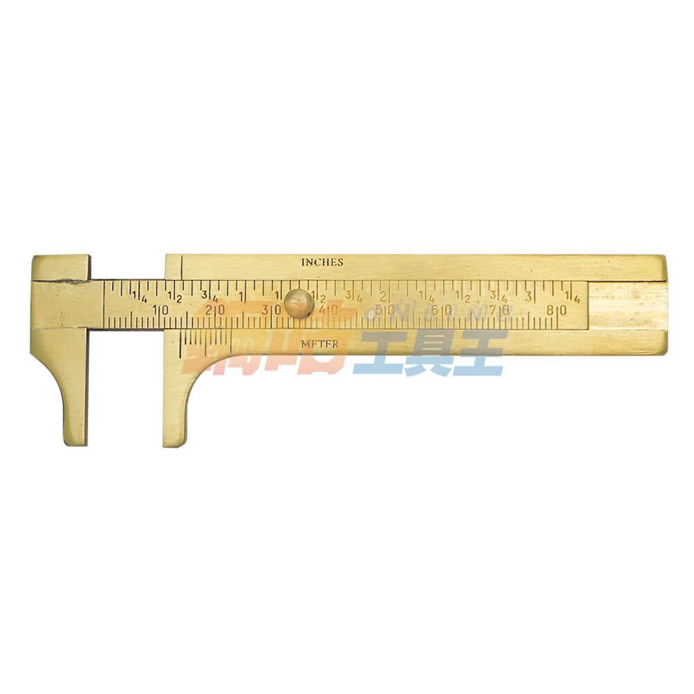 金工量測用銅製游標卡尺