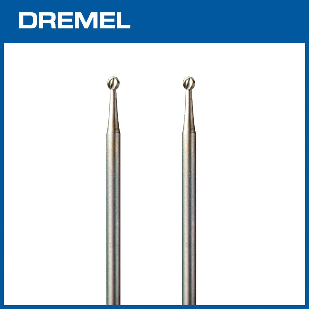 Dremel 107 2.4mm球型滾磨刀 2支入