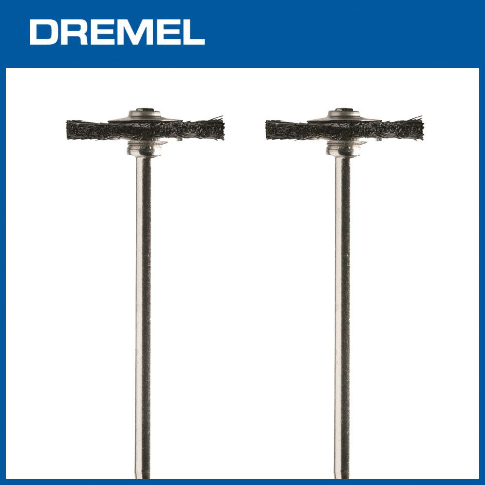 Dremel 403 19.1mm圓盤型清潔尼龍刷 2支入