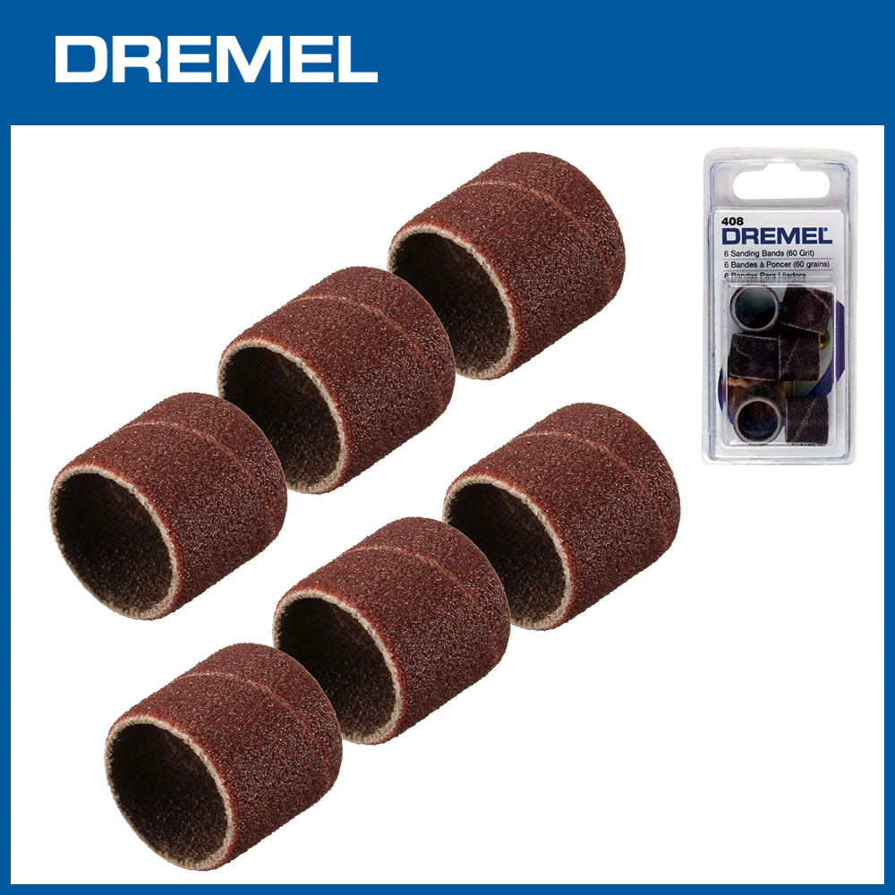 Dremel 408 12.7mm砂布套60G 6入