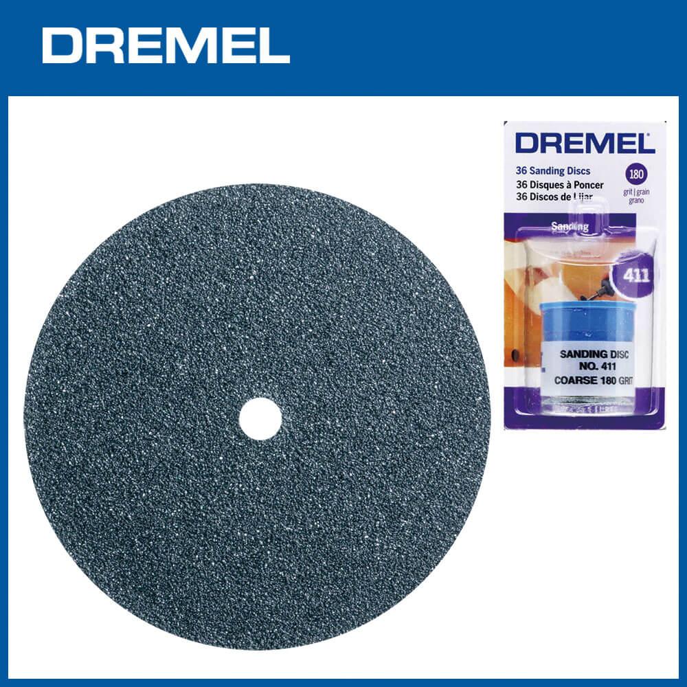 Dremel 411 19.1mm圓形砂紙 180G 36片