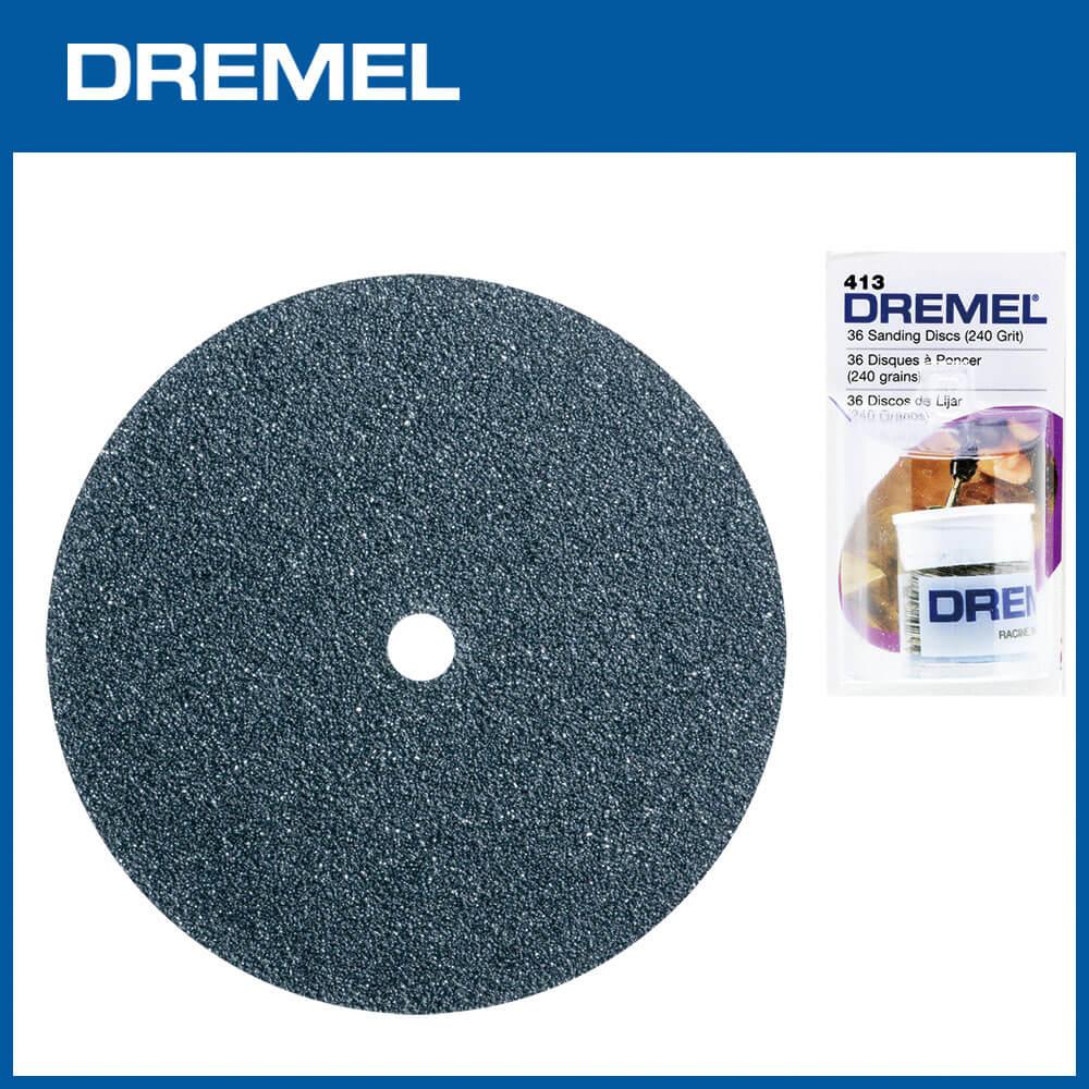Dremel 413 19.1mm圓形砂紙 240G 36片