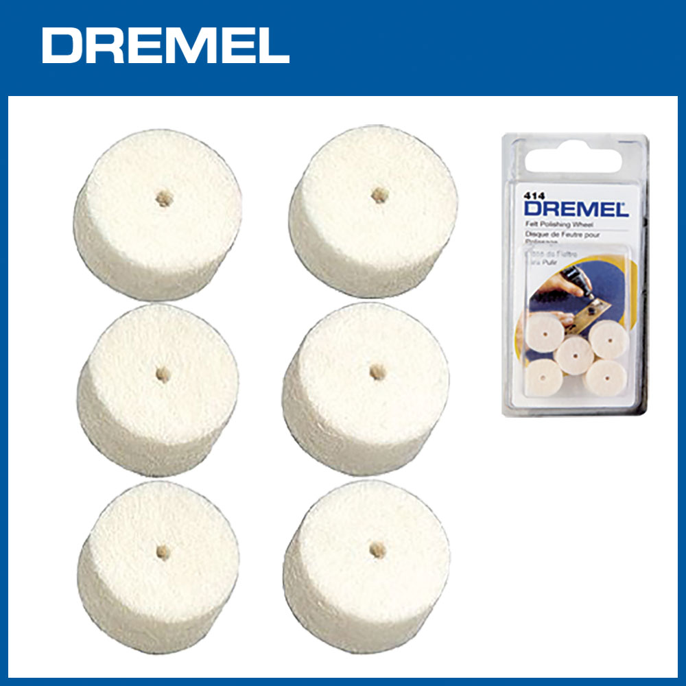 Dremel 414 12.7mm拋光毛氈 6入