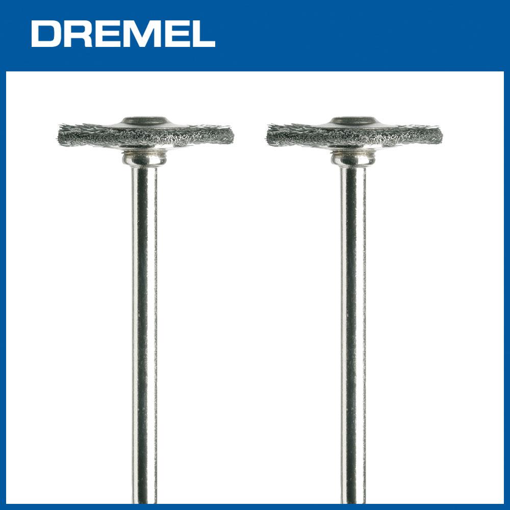 Dremel 428 19.1mm圓盤型清潔鋼刷 2支入