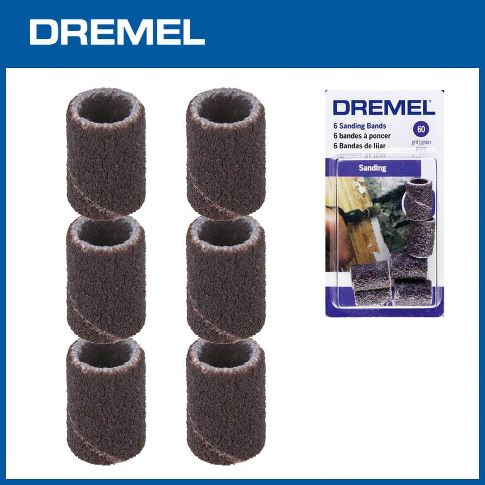 Dremel 431 6.4mm砂布套 60G 6入
