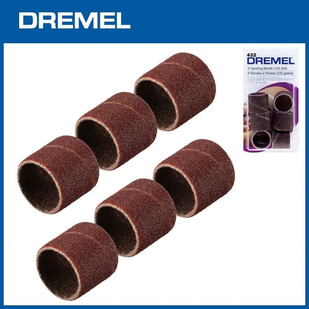 Dremel 432 12.7mm砂布套120G 6入