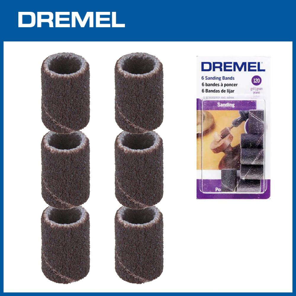 Dremel 438 6.4mm砂布套 120G 6入