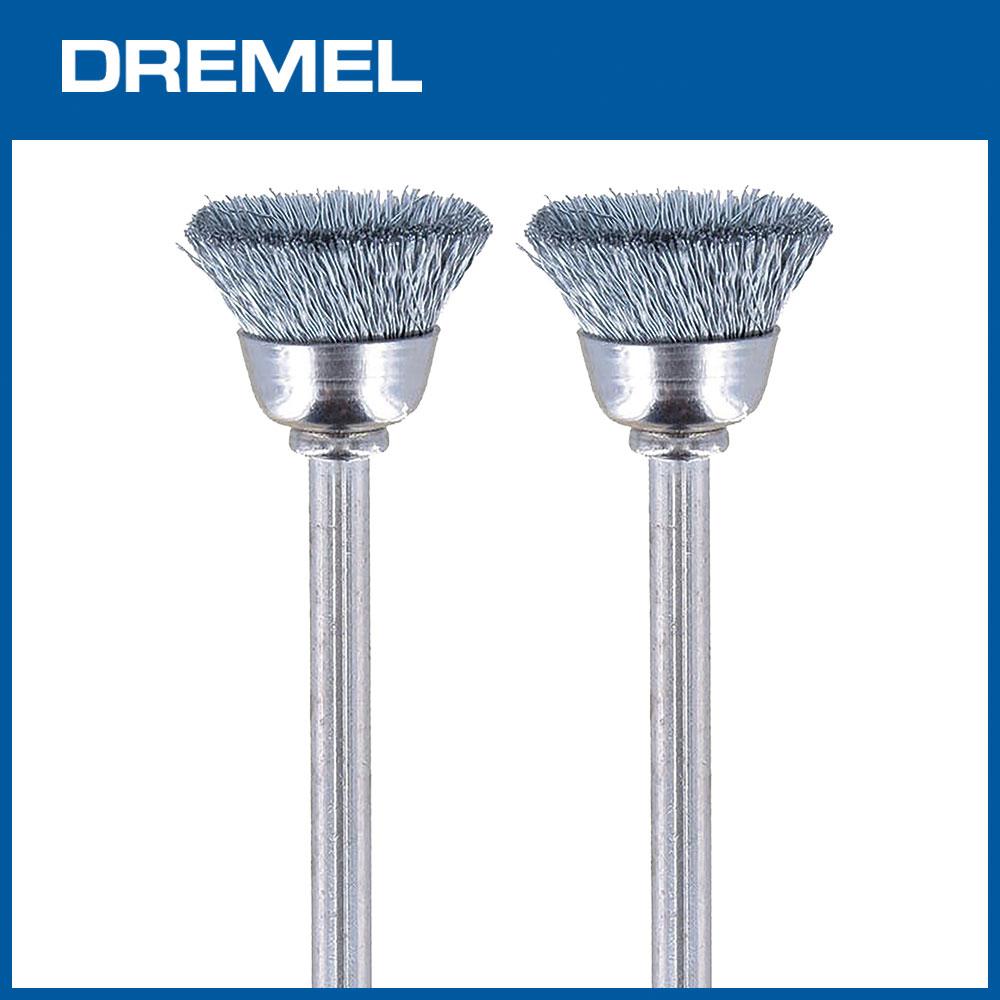 Dremel 442 12.7mm碗型清潔鋼刷 2支入