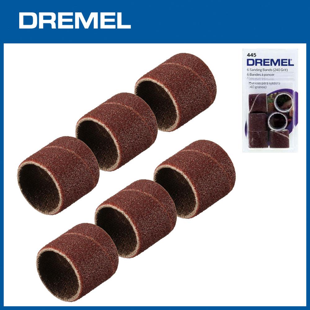 Dremel 445 12.7mm砂布套240G 6入