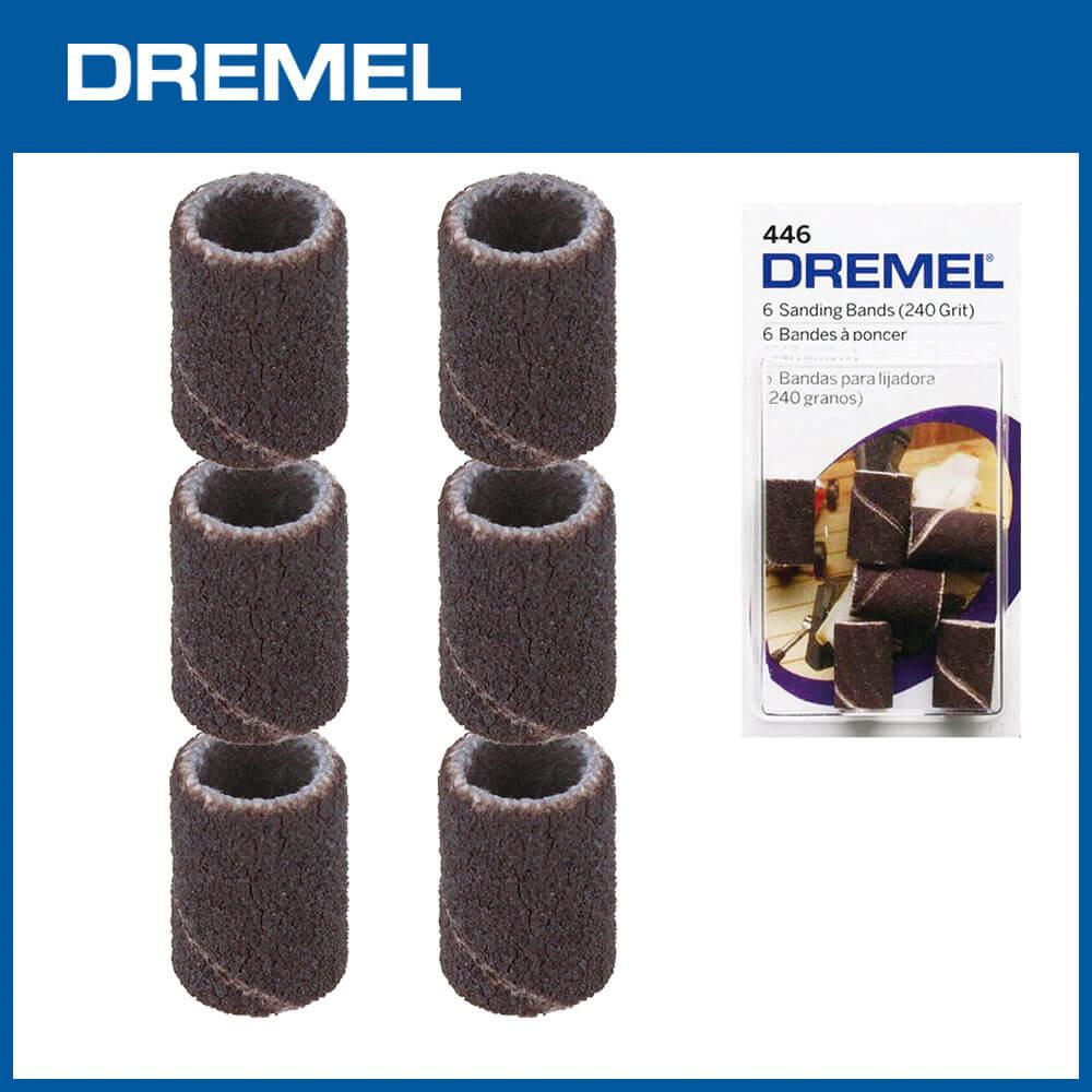Dremel 446 6.4mm砂布套240G 6入