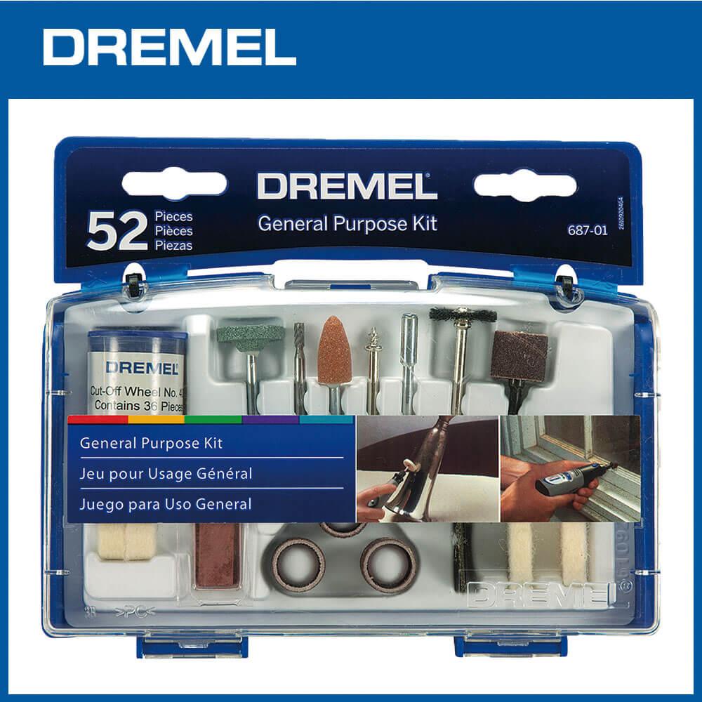 Dremel 精美 52件通用配件組