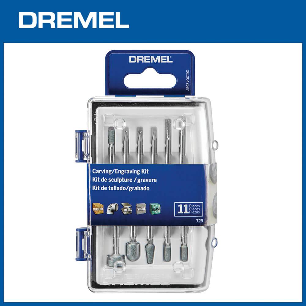 Dremel 729 迷你雕刻蝕刻11件組