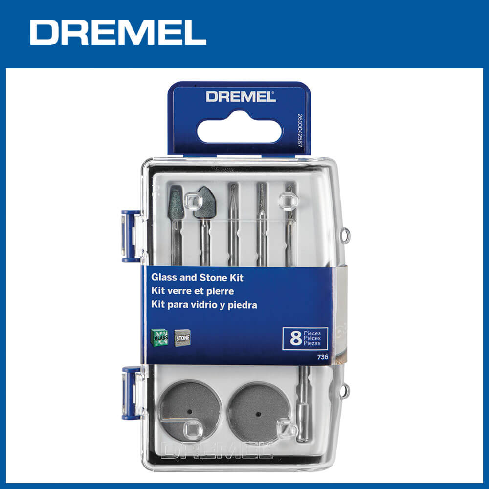 Dremel 736 迷你玻璃石工8件組