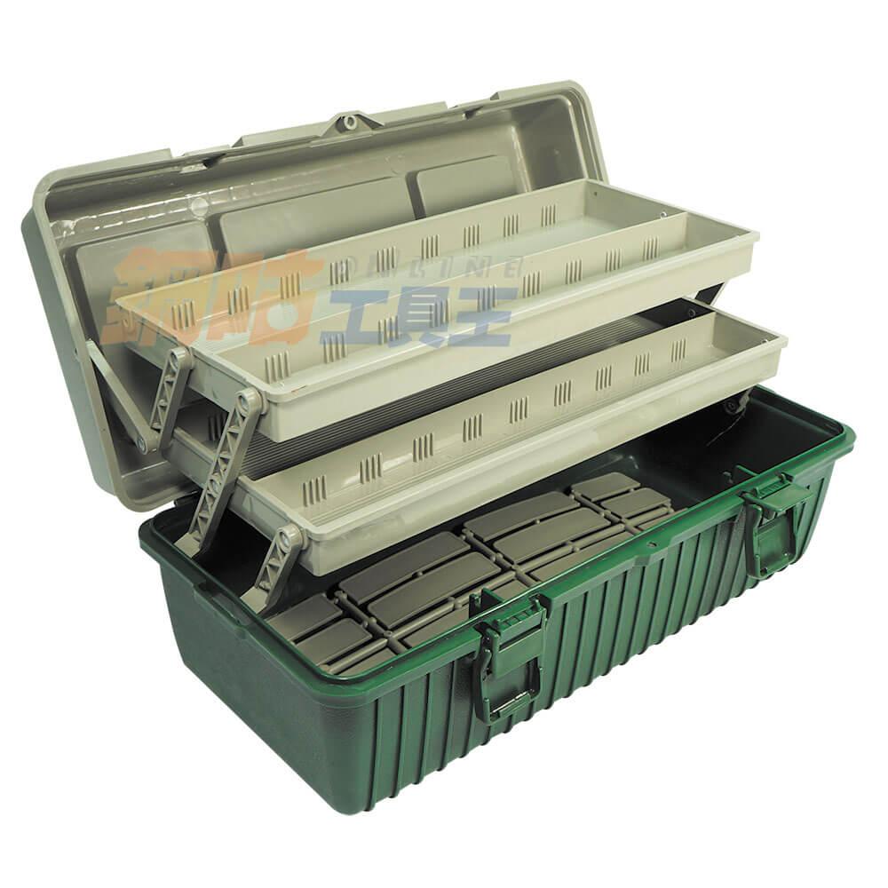 手提三層工具收納箱 附活動隔板 B-420