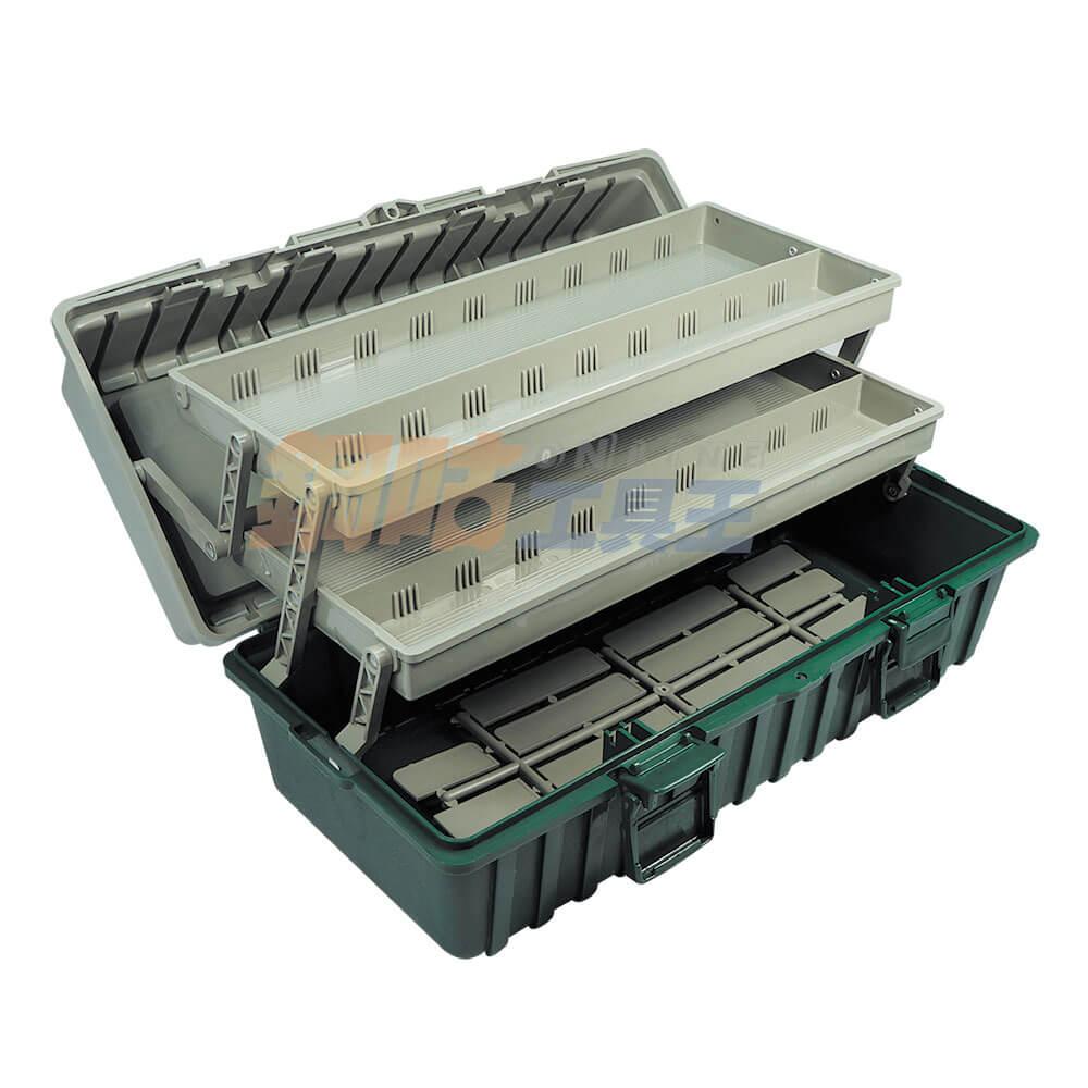 手提三層工具收納箱 附活動隔板 B-422