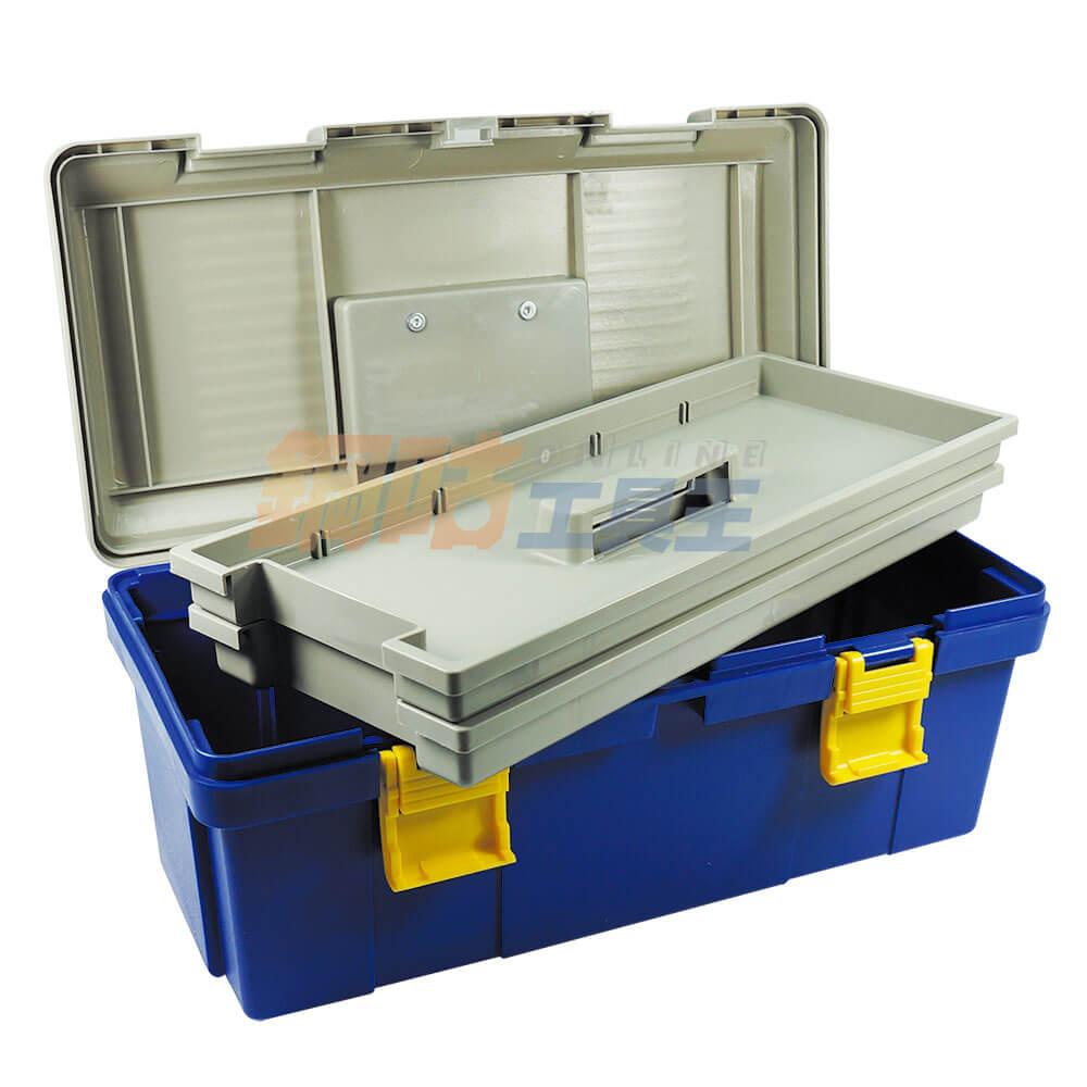 手提雙層工具收納箱 附活動隔板 B-430