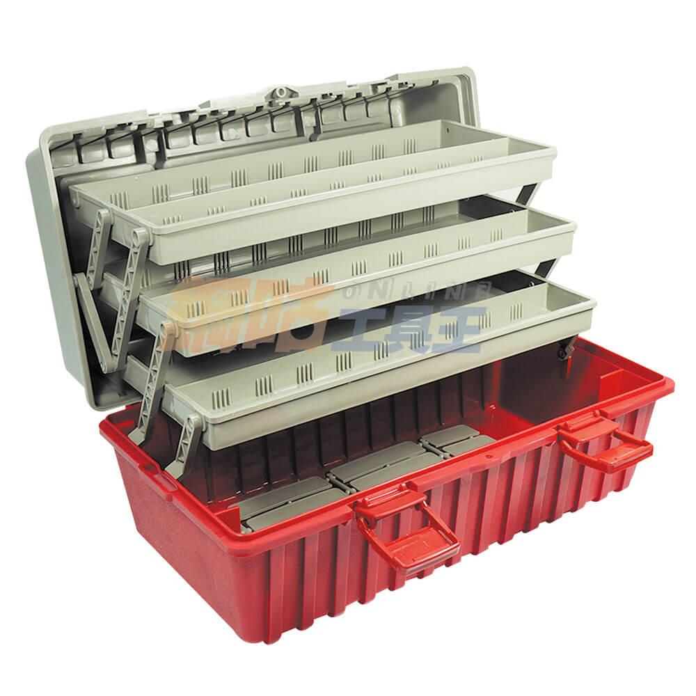 手提四層工具收納箱 附活動隔板 B-433