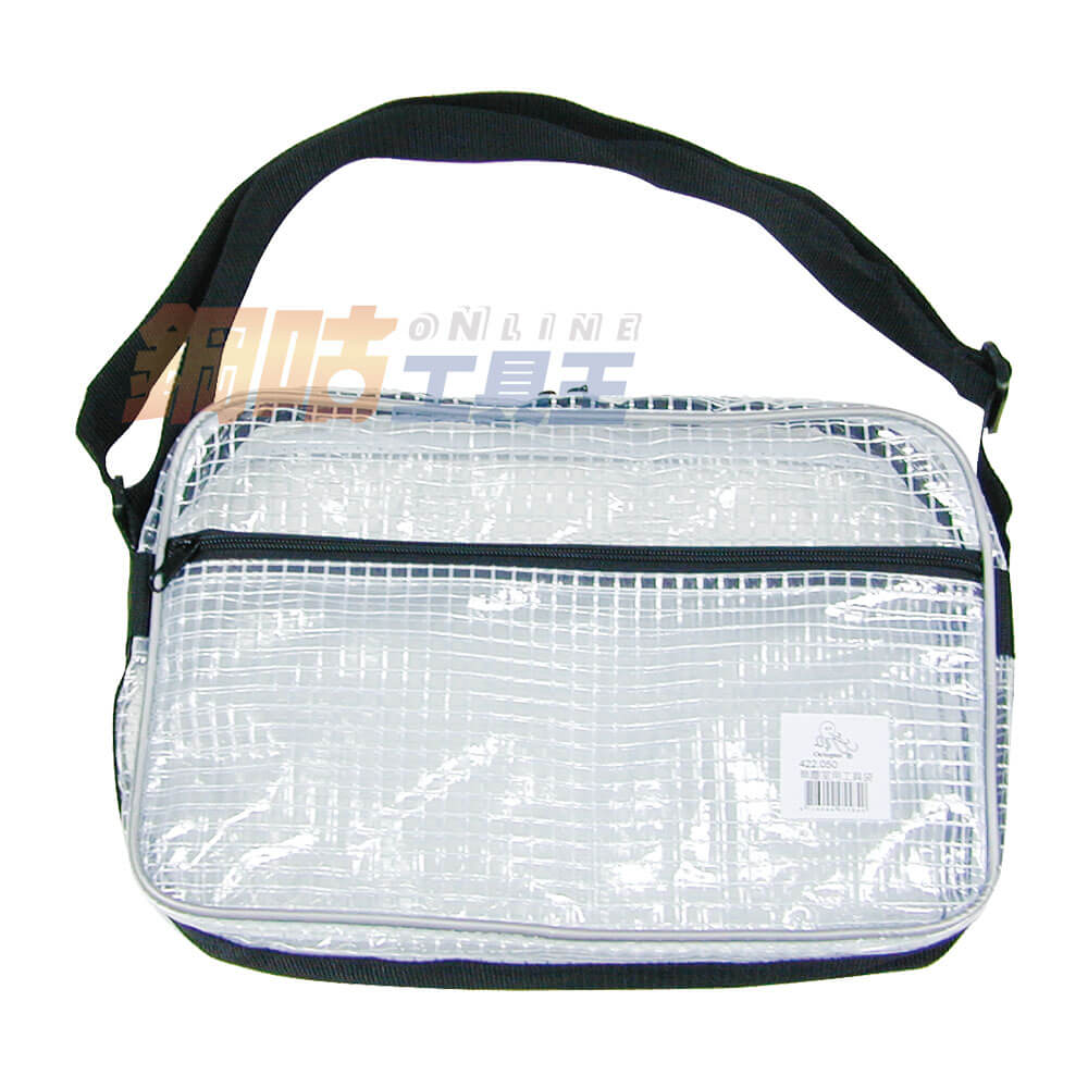 透明網狀PVC工具袋 小