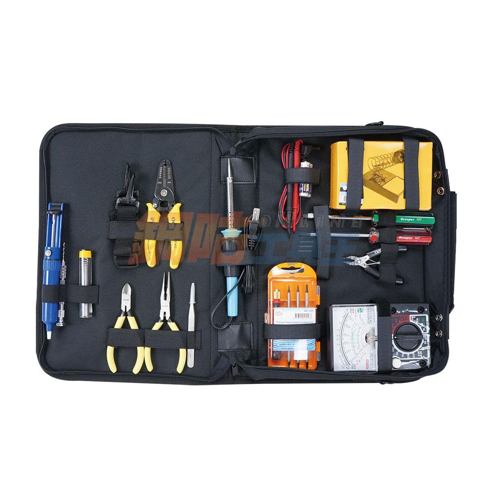 15件焊錫電子維修附電錶工具組