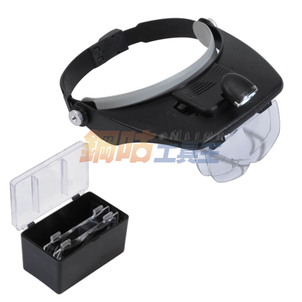頭戴可調LED燈放大鏡 1.2/1.8/2.5/3.5倍