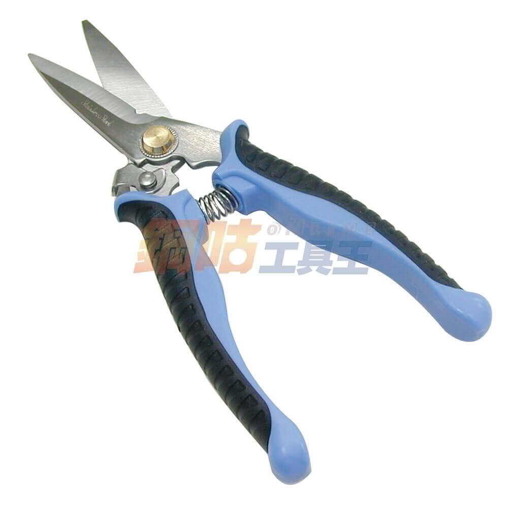 電工剪刀防滑刀口長20cm