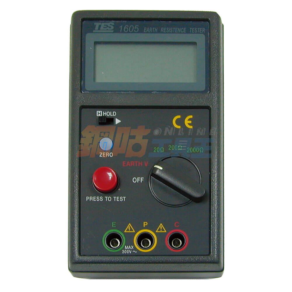 數位式接地電阻計TES-1605