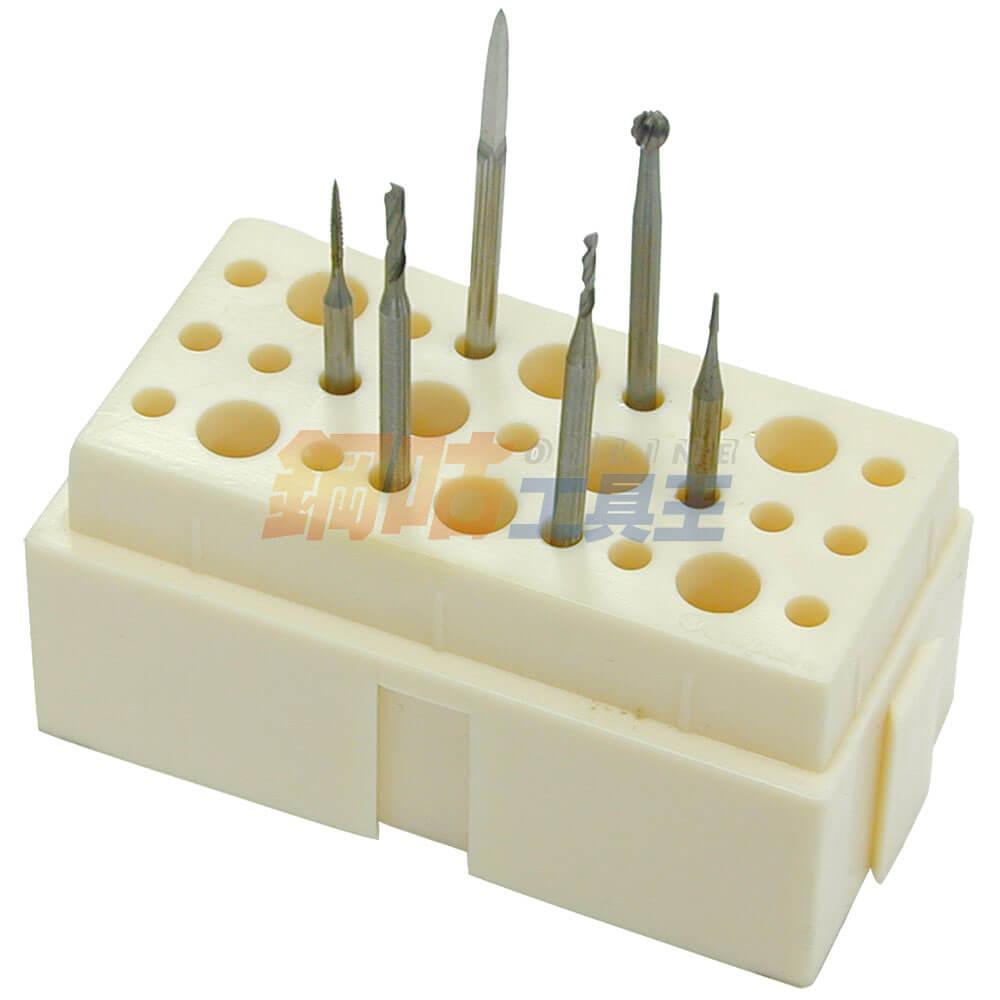 鑽針研磨頭綜合6支組 附座 1號