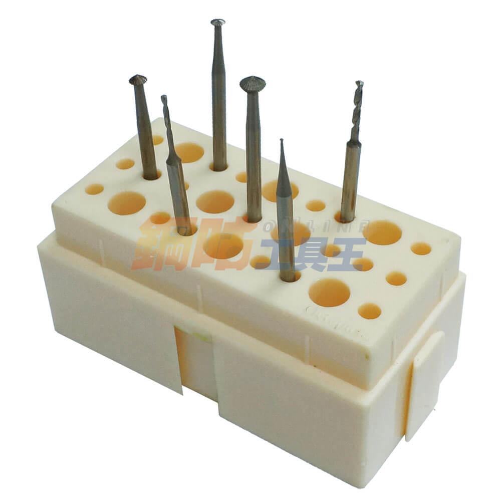 鑽針研磨頭綜合6支組 附座 3號
