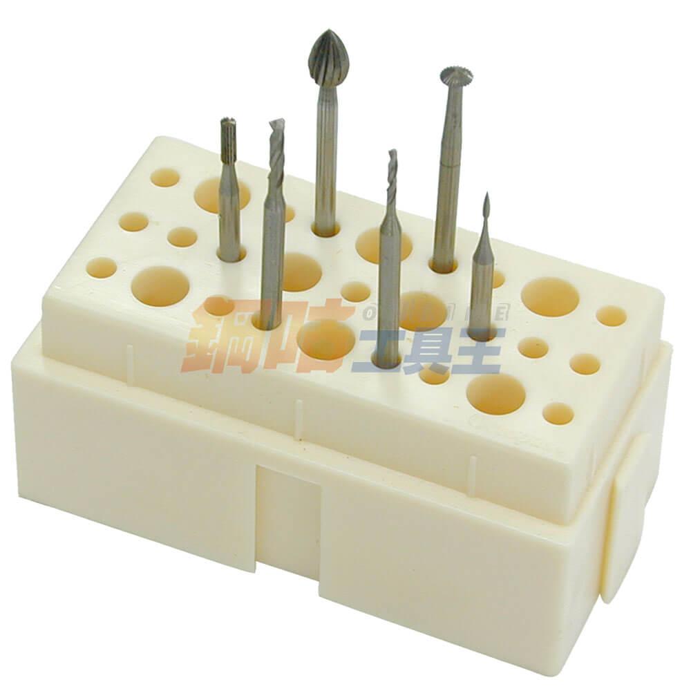 鑽針研磨頭綜合6支組 附座 4號