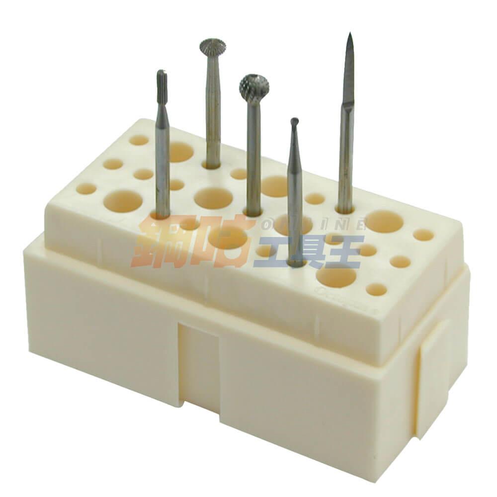 鑽針研磨頭綜合5支組 附座
