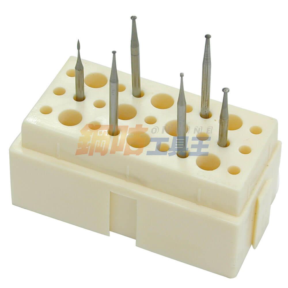 鑽針研磨頭綜合6支組 附座 6號