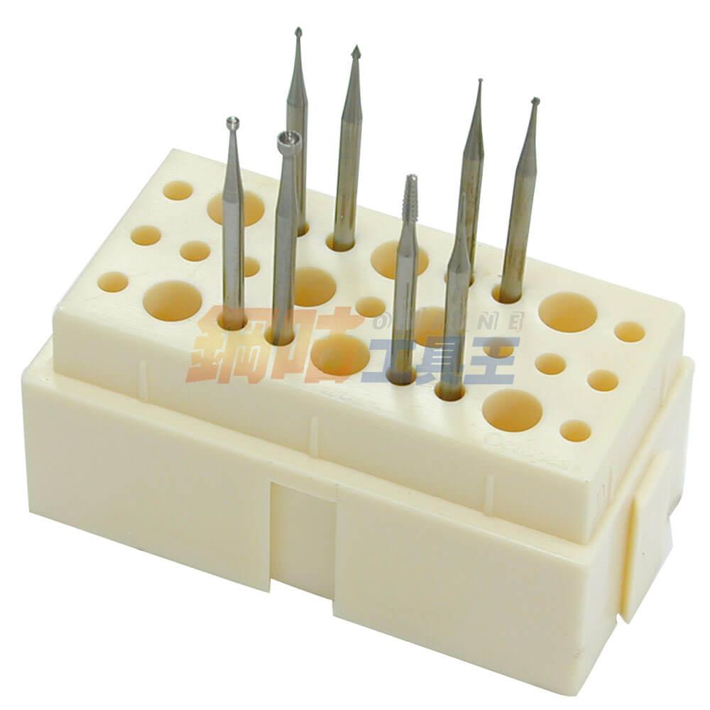 鑽針研磨頭綜合8支組 附座