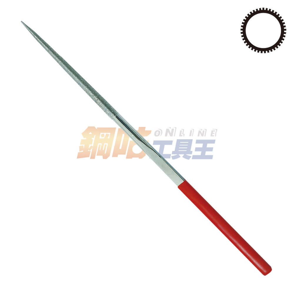 鑽石圓銼刀5號 長21.5cm