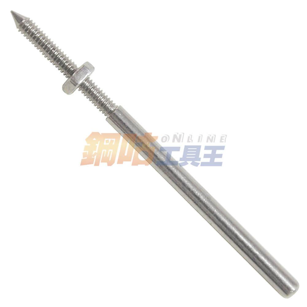 螺牙型矽膠輪可調軸心 柄徑3mm