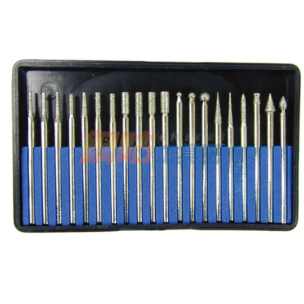 鑽石磨棒20支組 柄徑2.34mm B級品