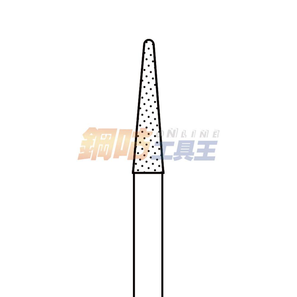 鑽石磨棒 細斜 柄徑6mm