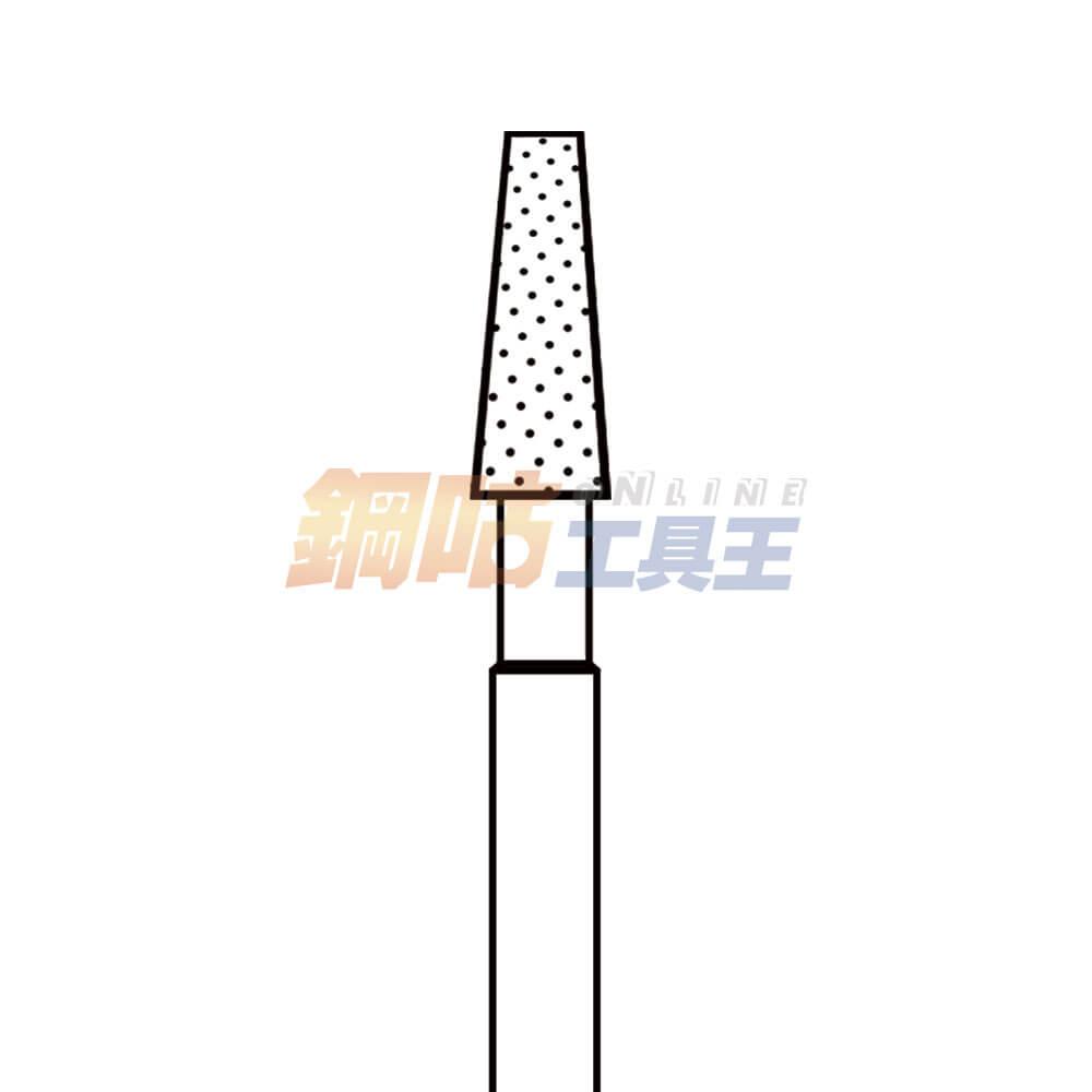 鑽石磨棒 短斜 柄徑6mm