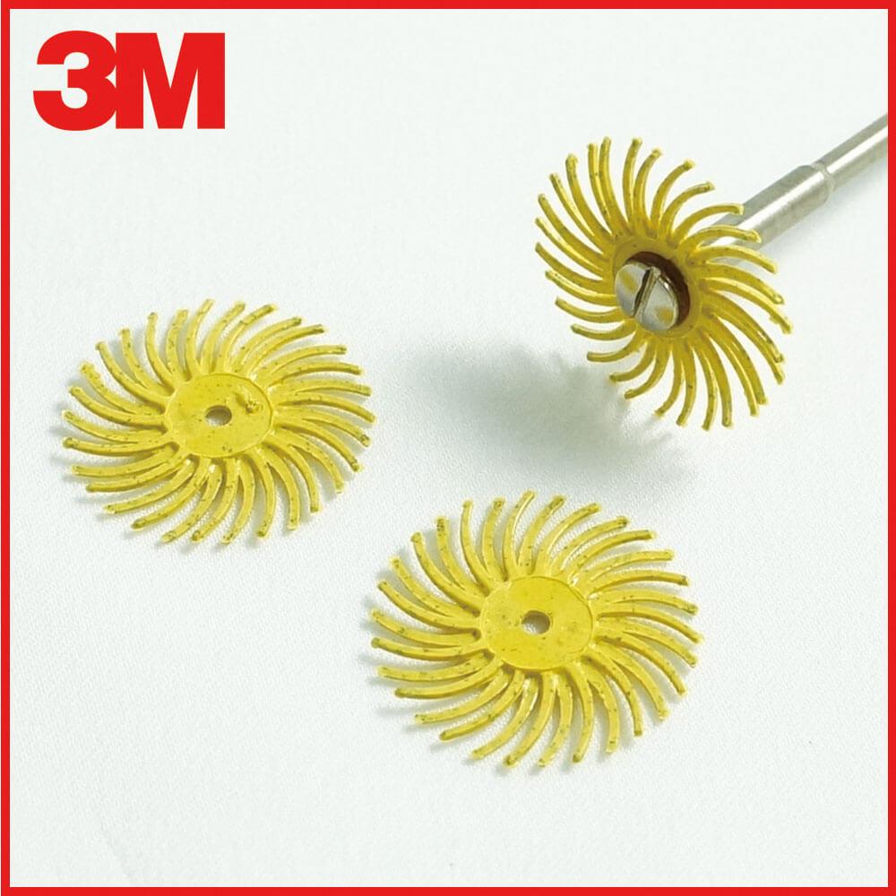 3M小旋風拋光輪 黃 80號 3片